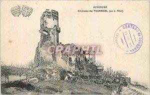 Old Postcard Auvergne Chateau de Tournoel