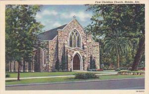Alabama Mobile First Christian Church Curteich