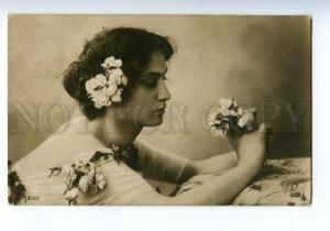 162016 BALLET Dancer w/ Flowers BELLE vintage PHOTO PC