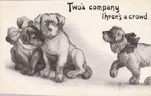 Fred Cavally Dog Series Two's company three's a crowd
