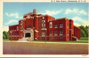 New York Schenectady New York State Armory Curteich