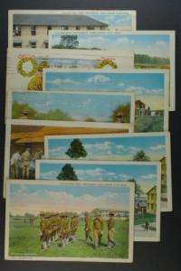 Camp Devons Mass lot of 9 PCs scenes circa 1917-20