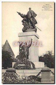 Old Postcard Metz Paul Dreoulude Monument inaugurated October 16, 1922