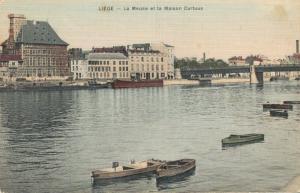 Belgie Liege La Meuse et la Maison Curtius 02.78