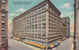 Marshall Field & Co Retail Store Chicago Illinois IL Postcard B26