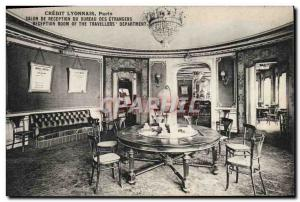 Old Postcard Bank Credit Lyonnais Paris the foreign office reception room