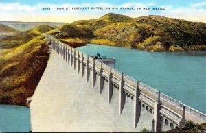 New Mexico Dam At Elephant Butte On Rio Grande