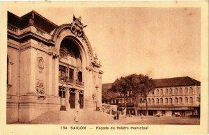 CPA AK INDOCHINA Saigon Facade du theatre municipal VIETNAM (957520)