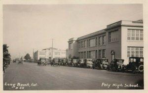 RP: LONG BEACH, California , 1920-30s ; Street view , Poly High School