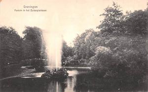 Groningen Holland Fontein in het Zuiderplantsoen Groningen Fontein in het Zui...