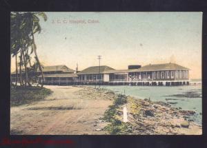 COLON PANAMA J.C.C. HOSPITAL ANTIQUE VINTAGE POSTCARD CORCONA CZ NELSON MO.