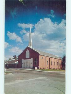 Unused Pre-1980 CHURCH SCENE Brooksville Florida FL p4114