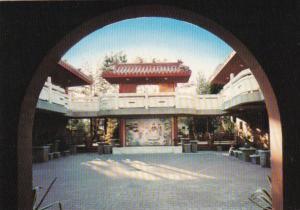 Canada Chinese Buddhist Temple Courtyard At Dawn Richmond British Columbia