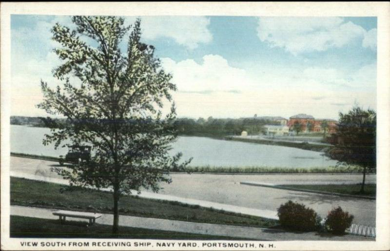 Portsmouth NH South From Receiving Ship Navy Yard c1920 Postcard