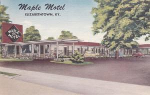 ELIZABETHTOWN, Kentucky, 30-40s; Maple Motel