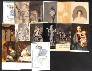 Greetings B-day social history lot 15 vintage postcards