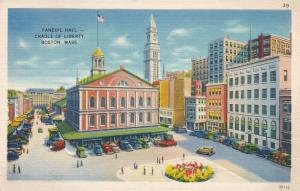 Faneuil Hall - Cradle of Liberty - Boston MA, Massachusetts - pm 1939 - Linen