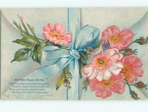 Divided-Back BEAUTIFUL FLOWERS SCENE Great Postcard AA2208