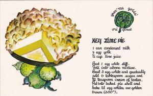 Key Lime Pie Recipe Card