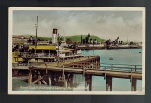 Mint Picture Postcard Belfast Ireland American Passenger Dock in harbor