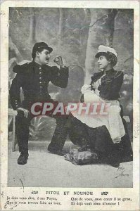 Old Postcard Pitou Nanny and I have to tell you where my Payse Army