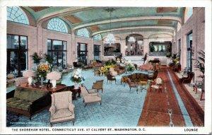 postcard Washington  DC - The Shoreham Hotel - view of lounge