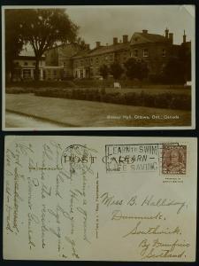 RPPC Rideau Hall, Ottawa Ontario to Scotland 1936