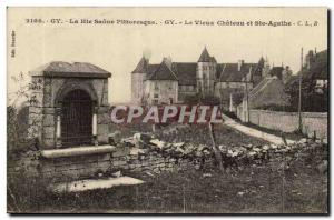 Gy Old Postcard Old Castle and St. Agatha