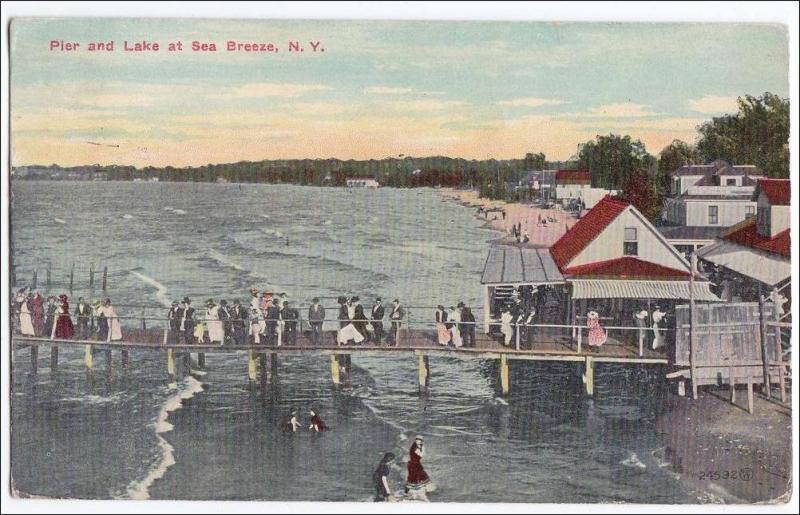 Pier & Lake at Sea Breeze NY