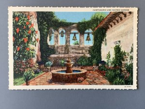 Mission San Juan Capistrano CA Linen Postcard A1153093324