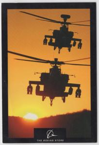 Boeing AH-64A Apache and Apache Longbow Combat Helicopters At Sunset Postcard