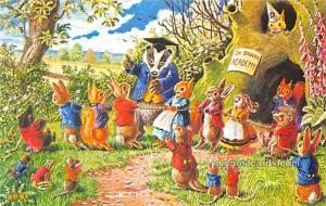 Dressed Animals Post Card Tug O'War Unused