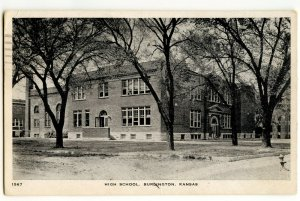 High School Burlington Kansas Vintage Postcard Standard View Card
