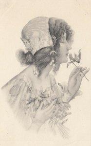 M.M.VIENNE : Woman in Art Nouveau Headdress Portrait #4 , 1901-07s