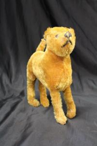 Antique Vintage Mohair Airedale Terrier? Steiff? Stuffed Toy Dog Missing Button