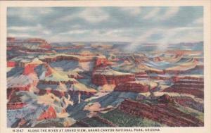 Arizona Grand Canyon View Along The River At Grand View Fred Harvey