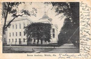 Mobile Alabama Barton Academy Street View Antique Postcard K69736