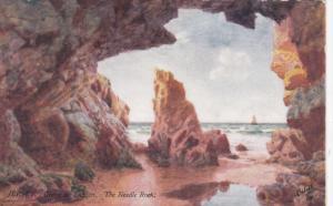 JERSEY, UK, 1900-1910´s; Greve Au Lancon, The Needle Rock