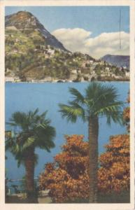 Switzerland Lugano Castagnola Monte Bre 1950