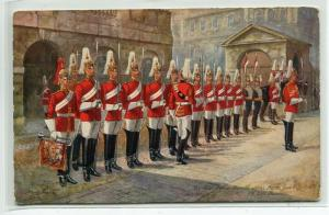 Four O'Clock Parade Horse First Life Guards Army Military London Tuck postcard