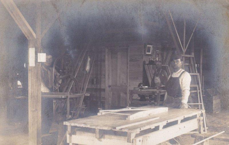 RP: GYPSUM , Kansas 00-10s ; Interior Men Working in Woodshop
