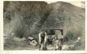 Hunters Auto Dead Deer 1920s RPPC Photo Postcard 12392