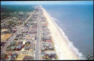 Virginia Beach, Va., Aerial Beach Scene (1954)