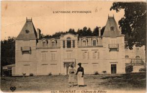 CPA l'Auvergne Pittoresque SOLIGNAT Chateau de Ribins (408039)