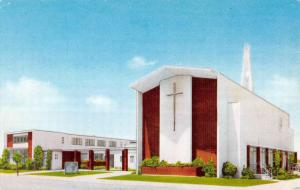 Alameda California First Baptist Church Street View Vintage Postcard K90936
