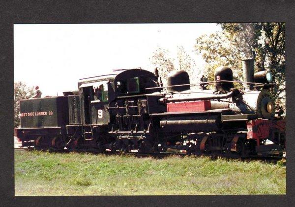 CA West Side Lumber Co Train Railroad CALIFORNIA PC RR