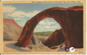 Rainbow Bridge National Monument, San Joan County, Utah Vintage Linen Postcard