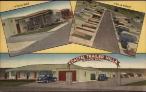 Old Town San Diego CA Coastal Trailer Villa SCARCE LINEN R/V Park Postcard