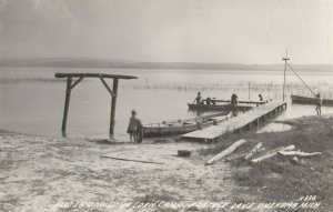 RP: ONEKAMA , Michigan , 1930-40s ; Boat Landing , Little Eden Camp , Nortage La