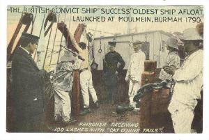 British Convict ship SUCESS, Prisoner receiving 100 lashes, 00-10s